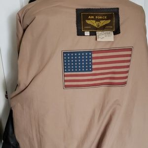 Air Force Jackets & Coats - Air Force brown leather bomber jacket 2XLT